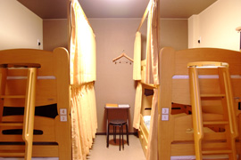 Dormitory room beds
